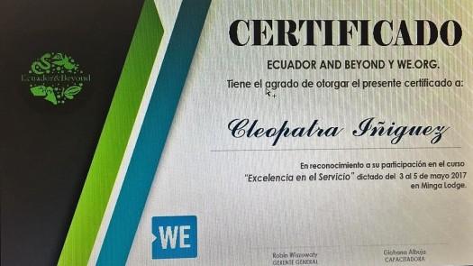Certificación por parte de Ecuador & Beyond