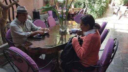 Reunión en Pisac, PErú